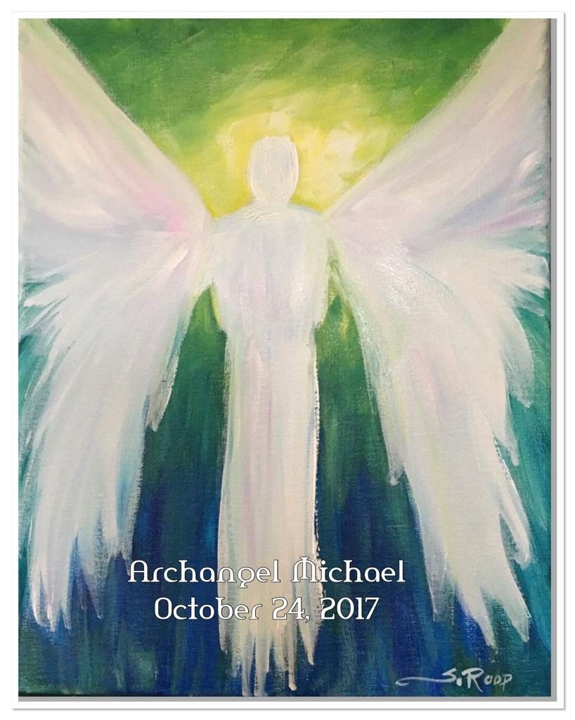 michael paint with angels